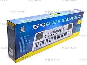 Детский игровой синтезатор с микрофоном, SD5410, игрушки