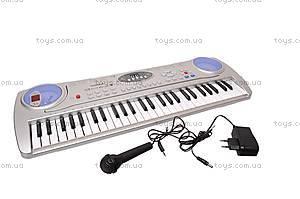 Детский игровой синтезатор, с микрофоном, SD998-A, фото