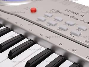 Детский игровой синтезатор, с микрофоном, SD998-A, отзывы
