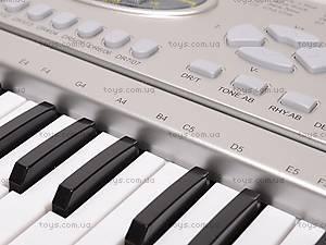 Детский игровой синтезатор, с микрофоном, SD998-A, игрушки