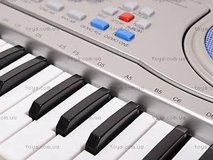 Детский игровой синтезатор, с микрофоном, SD998-A, детские игрушки