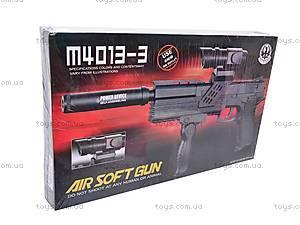 Детский игрушечный автомат, стреляющий пульками, M4013-3, детские игрушки