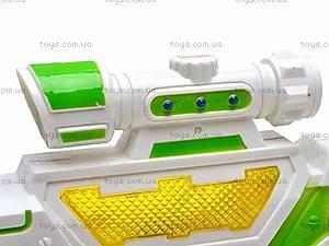 Детский игрушечный музыкальный пистолет, 3939-8, фото