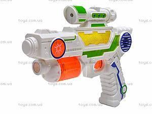 Детский игрушечный музыкальный пистолет, 3939-8, игрушки