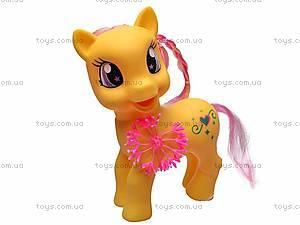 Детский игрушечный пони, с аксессуарами, HY8588-C1