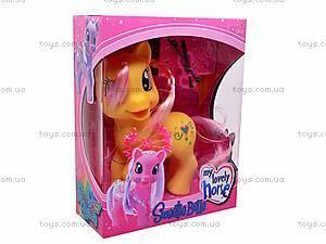Детский игрушечный пони, с аксессуарами, HY8588-C1, цена