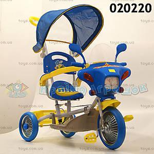 Детский интерактивный велосипед, синий , 020220
