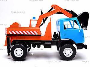 Детский КамАЗ «Экскаватор», 495, детские игрушки