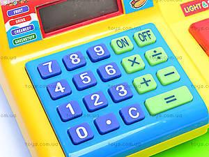 Детский кассовый аппарат, на батарейках, FS-34551, игрушки