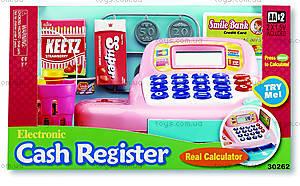 Детский кассовый аппарат, розовый, K30262
