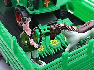 Детский комбайн, с техникой, 0488-105, игрушки