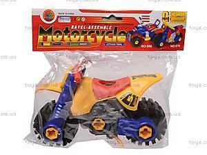 Детский конструктор «Мотоцикл», 876, детские игрушки