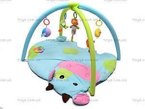 Детский коврик с погремушками «Коровка», 898-35B