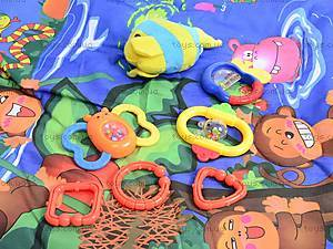 Детский коврик с погремушками, на дуге, 68003, купить