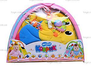 Детский коврик с погремушками в сумке, 898-36B, игрушки