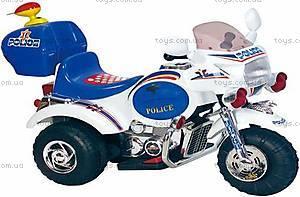 Детский красный мотоцикл «Полиция», M-016