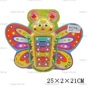 Детский ксилофон «Бабочка», FD-043B