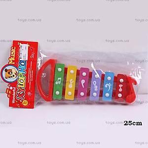Детский ксилофон, пластиковый, 32168-3