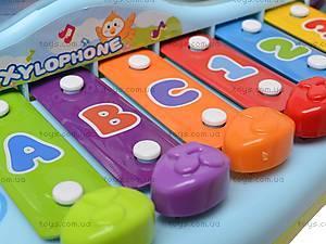Детский ксилофон с сортером, 856, игрушки