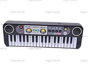 Детский маленький синтезатор с микрофоном, MQ3737, фото