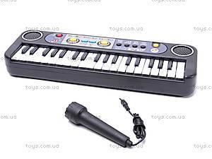Детский маленький синтезатор с микрофоном, MQ3737, цена