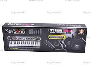 Детский маленький синтезатор с микрофоном, MQ3737, игрушки