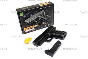 Детский металлический пистолет, с пулями, 2010