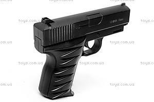 Детский металлический пистолет, с пулями, 2010, игрушки