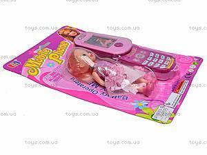 Детский мобильный телефон с куклой, 8788C-1, купить