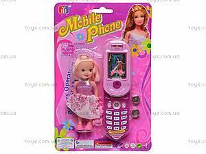 Детский мобильный телефон с куклой, 8788C-1