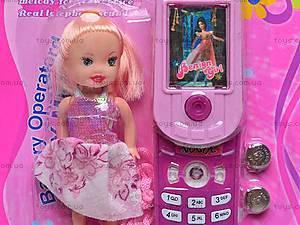 Детский мобильный телефон с куклой, 8788C-1, фото