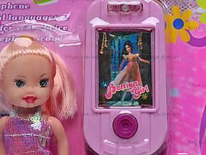 Детский мобильный телефон с куклой, 8788C-1, отзывы