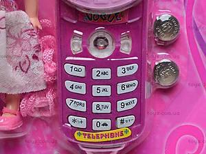 Детский мобильный телефон с куклой, 8788C-1, цена