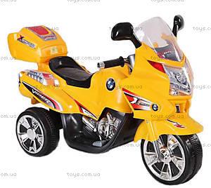 Детский мотоцикл-электромобиль, желтый, YL3188-YELLOW