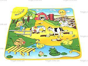 Детский музыкальный коврик «Ферма», 2912, детские игрушки