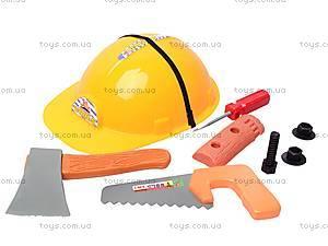 Детский набор инструментов с каской, 666-12, цена