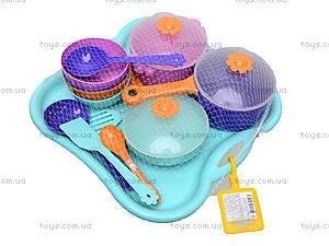 Детский набор посуды с подносом, 39146