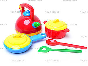 Детский набор посуды «Юная хозяюшка», 04814