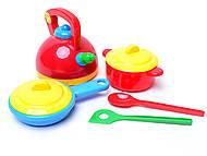 Детский набор посуды «Юная хозяюшка», 04814, фото