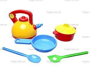 Детский набор посуды «Юная хозяюшка», 04814, toys