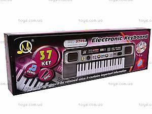 Детский орган, 37 клавиш, MQ3709A, игрушки