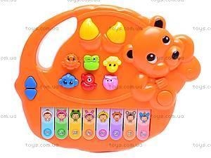 Детский орган «Пианино знаний», 7252ABCDE, игрушки