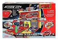 Детский паркинг «Пожарная станция» с машиной, 28552, детские игрушки