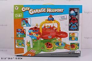 Детский паркинг, с машинками и вертолетом, P5888A