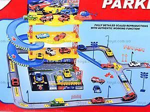 Детский паркинг с металлическими машинами, 92106, игрушки
