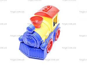 Детский паровоз с вагоном, , фото