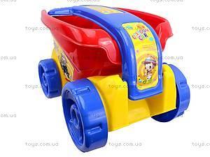 Детский песочный набор с тележкой, 6010, детские игрушки
