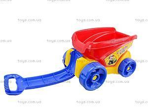 Детский песочный набор с тележкой, 6010, toys