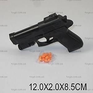 Детский пистолет, с фонариком и пульками, 231-3