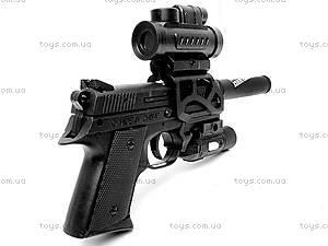 Детский пистолет, с лазером и пульками, CZ2075, фото